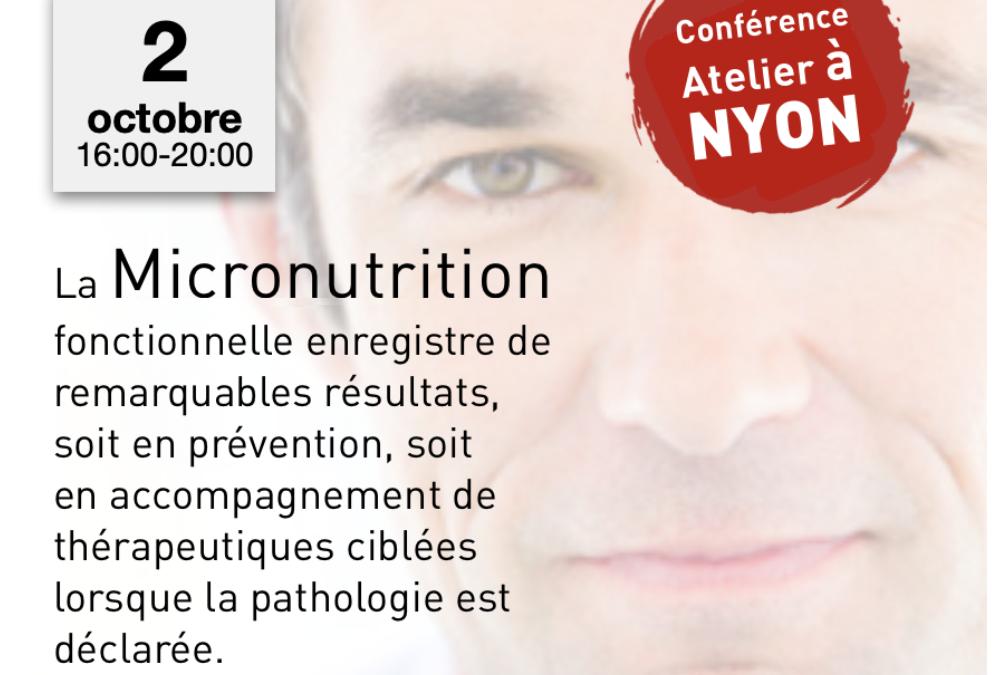 Micronutrition Laboratoire Nelson – 2 octobre 2019